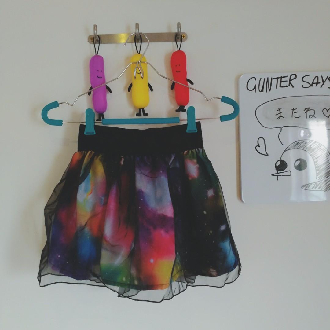 S8♡Black Galaxy Tutu Skirt