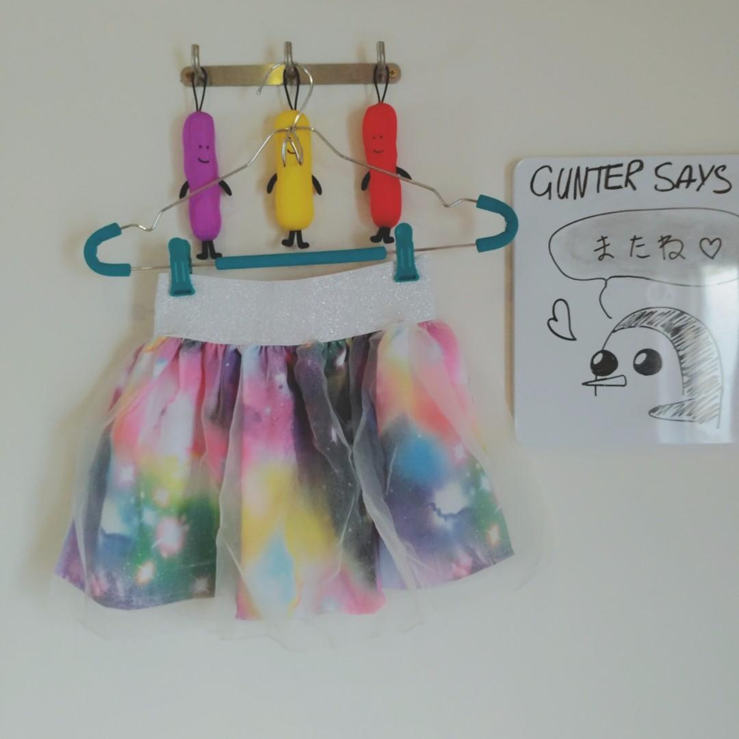 S8♡White Galaxy Tutu Skirt