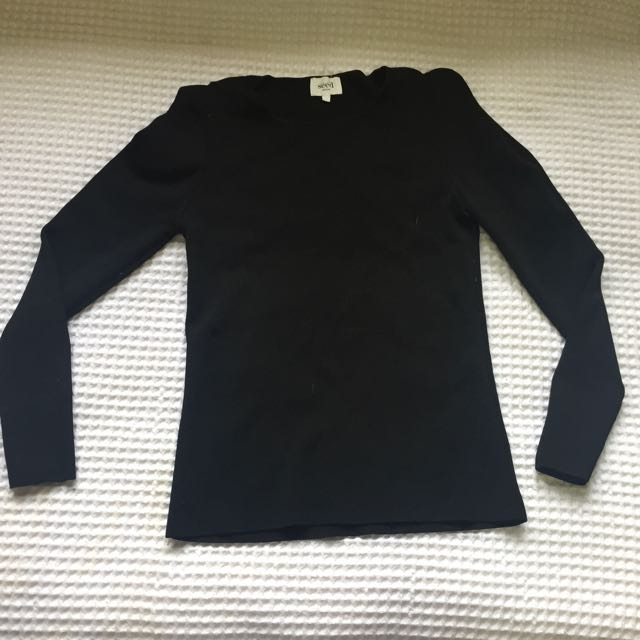 Seed Small Black Long Sleeve Top