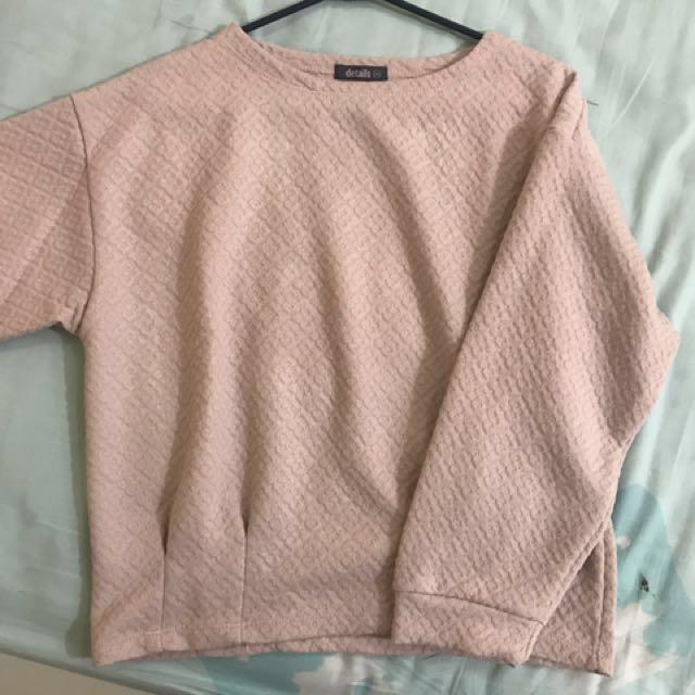 Sweater warna nude