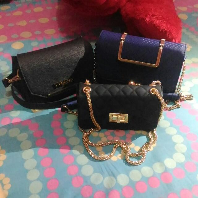 1b84f8ff547c Tas jelly mate chanel 140rb,biru 100rb,hitam 50rb, Women's Fashion, Women's  Bags & Wallets on Carousell