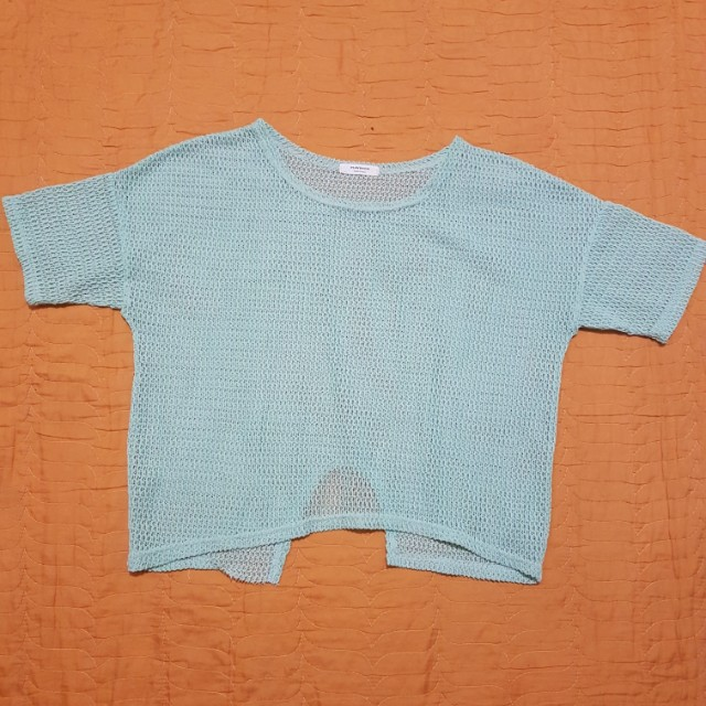 Teal see though top