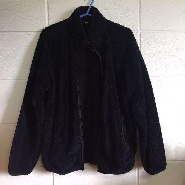 Teddy Fur Black Jacket