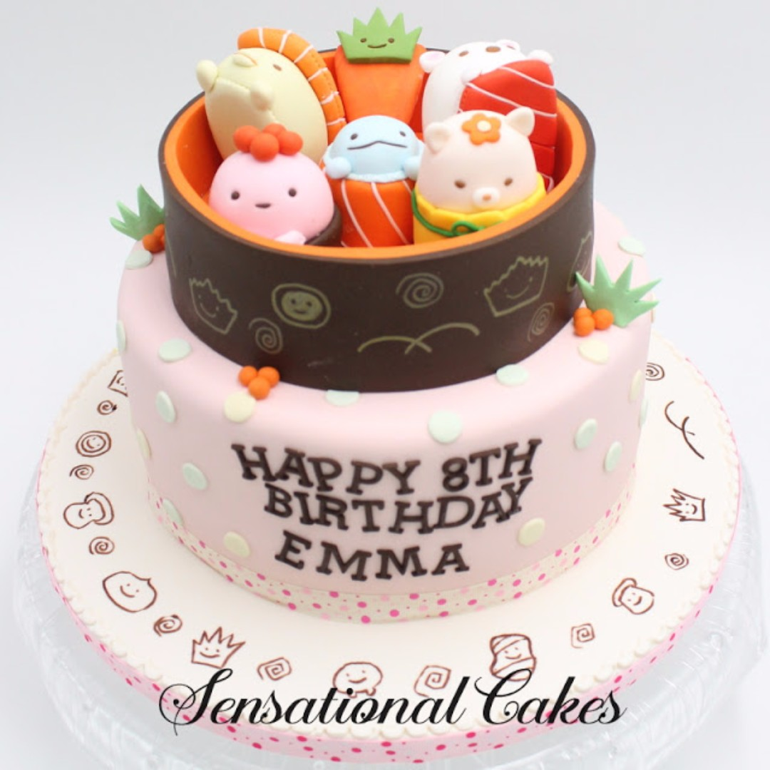 Tsum Sushi Theme Birthday Cake Singapore Rolls Princesses Of Disney Tinkerbell Snow White And Cinderella In Food Drinks