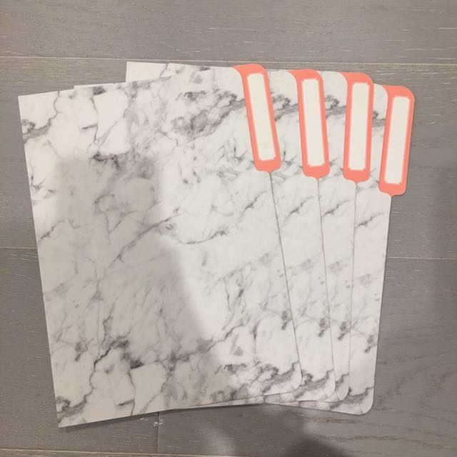 Typo Marble Manila Folder