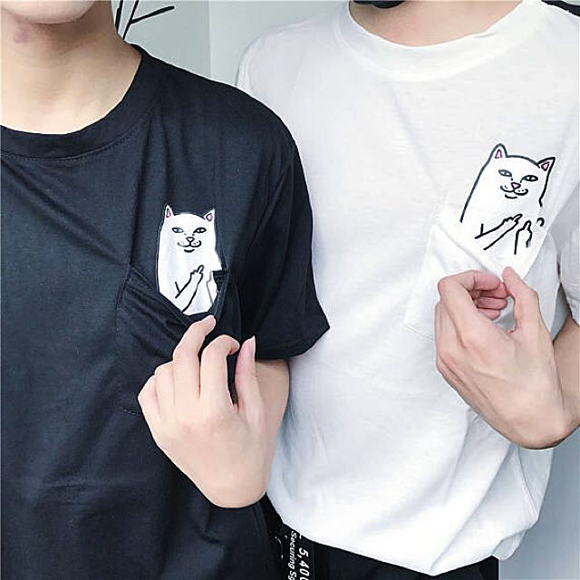 Image result for middle finger cat shirt