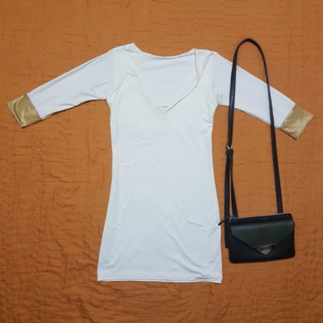White bodycon dress or top