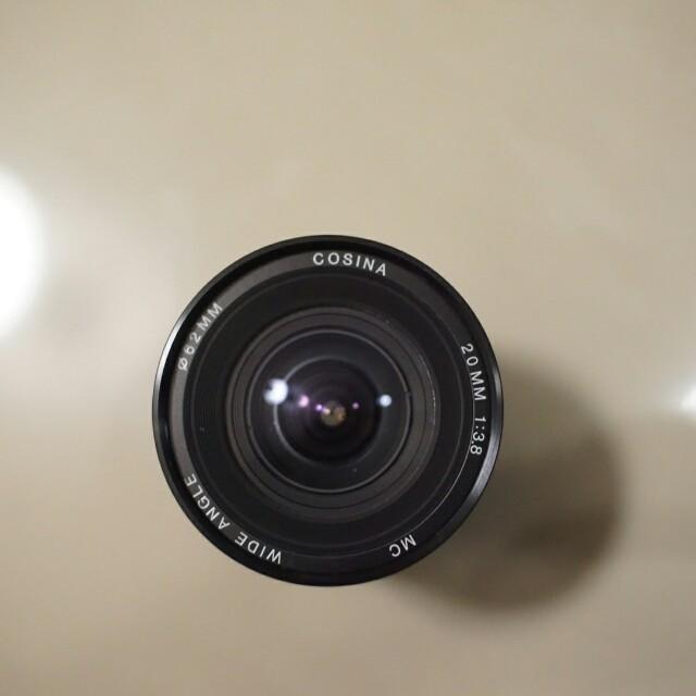 Wide Lens COSINA 20mm f 3.8