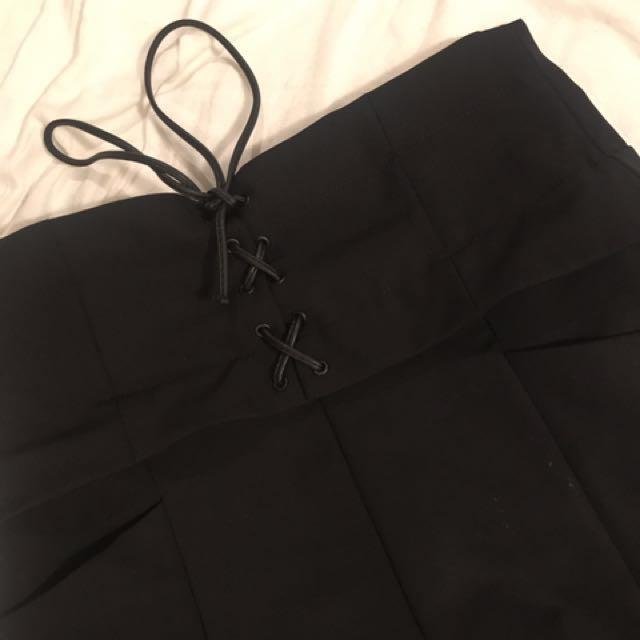 Zara Trafaluc High Waisted Corset Shorts