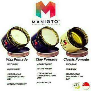 NEW MANIGTO POMADE SELECTION