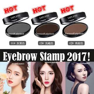 2017 Hot Super Eyebrow Stamp Powder + 1 Straight brow chop!! Other individual stamp chop available at another listing~