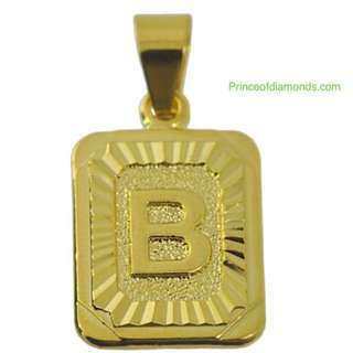 Gold Plated B charm