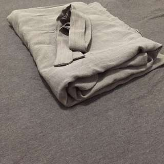 棉麻綁帶開叉長洋裝