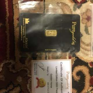 Limited edition gold bar