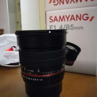 Samyang 85mm f1.4 for micro four thirds
