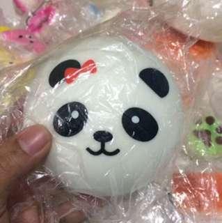 Jumbo Panda Slow-Rising Squishy Keychain