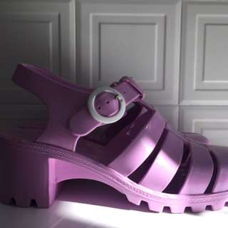Purple Jelly shoes