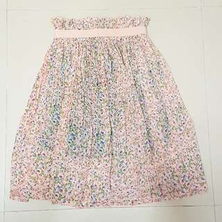 粉紅色碎花裙 pink floral dress