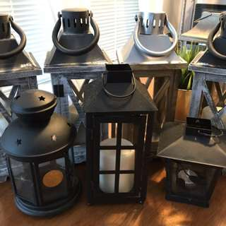 Seven assorted lanterns