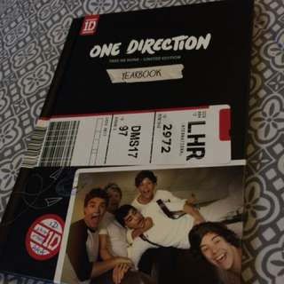 One direction book included with CD
