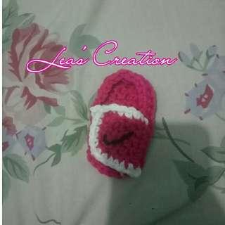 crochet nike slip on (for babies)