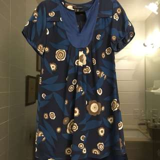 Banana Republic Petite Medium silk dress