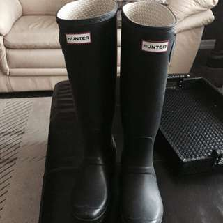HUNTER TALL BOOTS MATTE SIZE 10