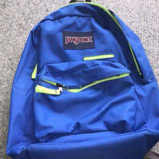 Blue and Green JanSport bag