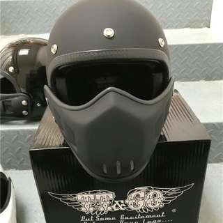 Japan imported authentic TT&Co.  matte black Harley Davidson vintage helmet