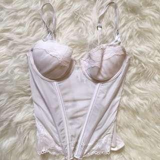 White Lace Detail Corset