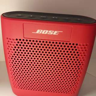 Authentic Bose Bluetooth Speaker SoundLink Color Red