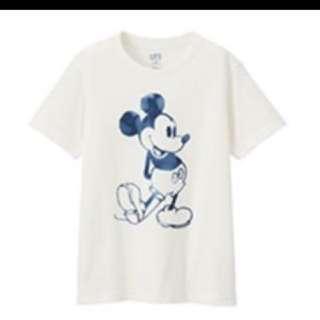Uniqlo Mickey Blue 米奇 UT