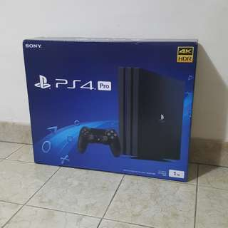 Brand New Sony PS4 Pro 1TB 4KHDR Gaming Console Black