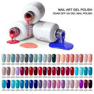 1x(1 colour) 7ML UV LED Gel Nail Polish (Fixed Price & Free Delivery)