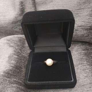 Mikimoto 珠戒指 750