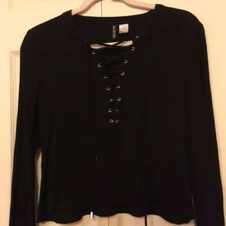 Black blouse from h & m