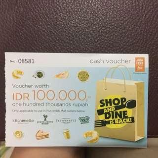Voucher Makan senilai 100.000 di Ismaya Puri Indah