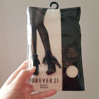 NEW Forever 21 cream stockings