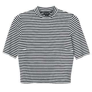 [PL] Turtleneck Stripe Top