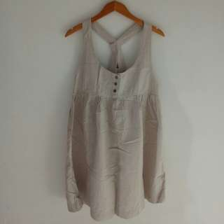 Overall Square Cream White Skirt