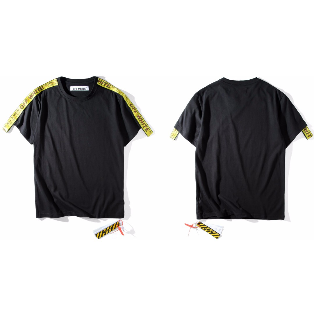 a823c8d4a 1:1 Off White x Virgil Abloh Longline Tag Strap Tee, Men's Fashion, Clothes  on Carousell