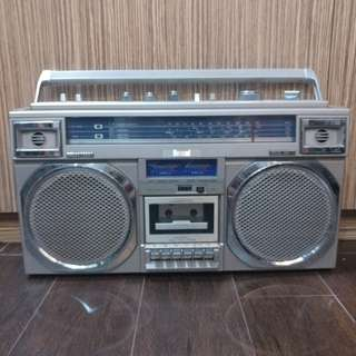 Vintage Amcol Boombox with VU meters