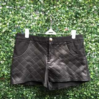Faux Leather Mini Shorts