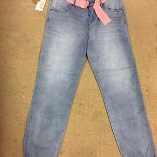 Brand new Roxy girls size 14 ray of light elastic bottom jeans
