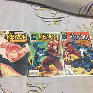 "Set C - Marvel Comic ""Venom"" Set of 3"