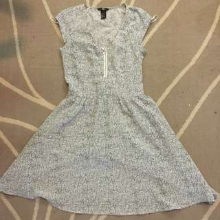H&M Black And White Printed Dress- Size 34