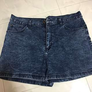 Acid Wash Denim Shorts (tagged size 40!)