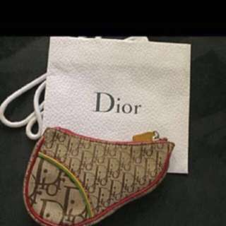 Auth Christian Dior Cute Mini Saddle Pouch