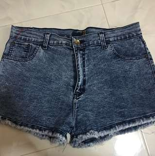 Light Blue Acid Wash Denim Short (tagged size 40!)