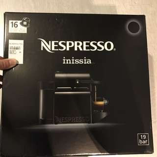 Nespresso Inissia Coffee Machine (intense Black)